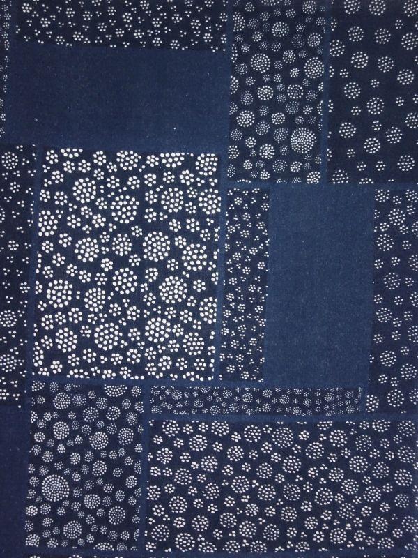 画像1: 藍捺染手ぬぐい 点。夜 (1)