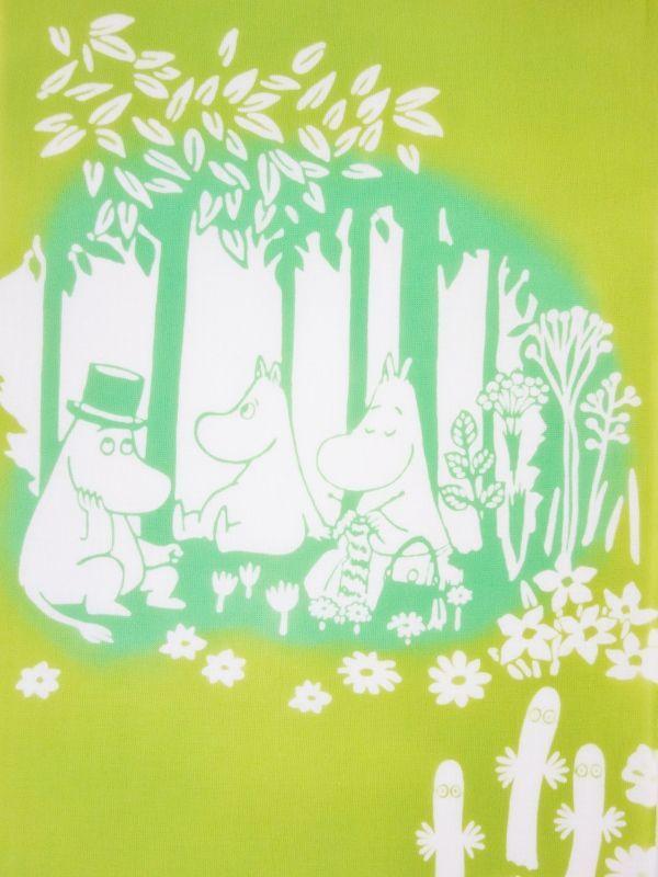 画像1: ムーミン手ぬぐい 木陰 (1)