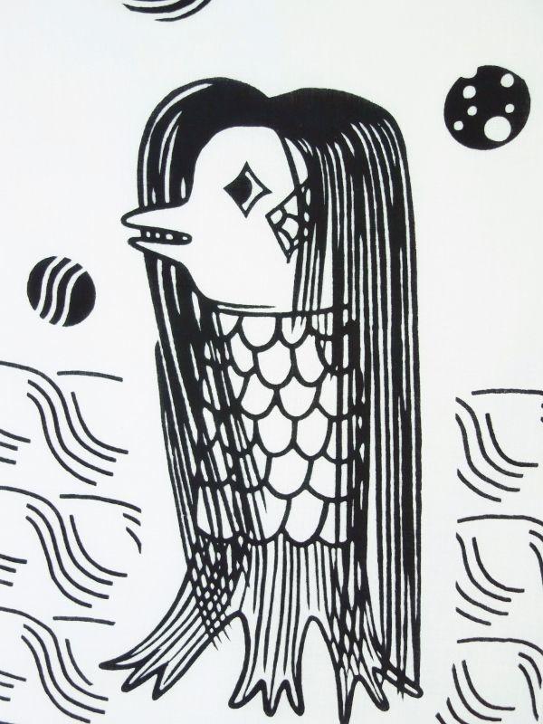 画像1: 手ぬぐい アマビエ様 (1)
