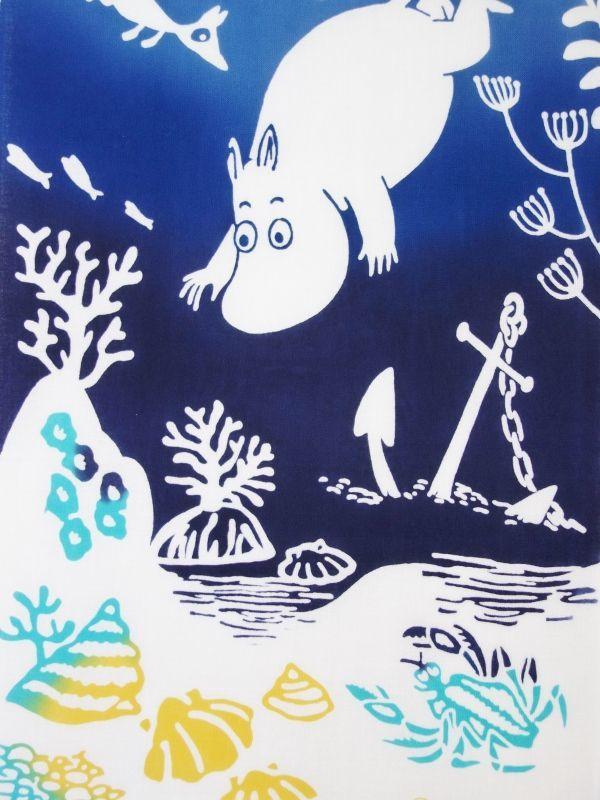画像1: ムーミン手ぬぐい 海の冒険 (1)
