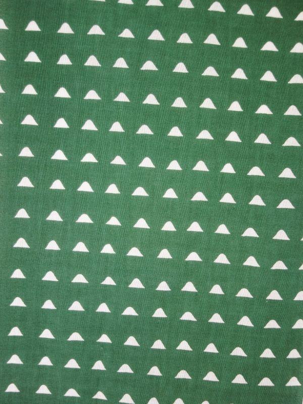 画像1: こてぬぐい 山波 緑 (1)