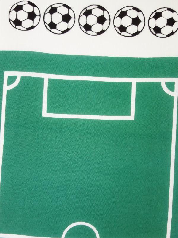 画像1: 手ぬぐい サッカー 緑 (1)
