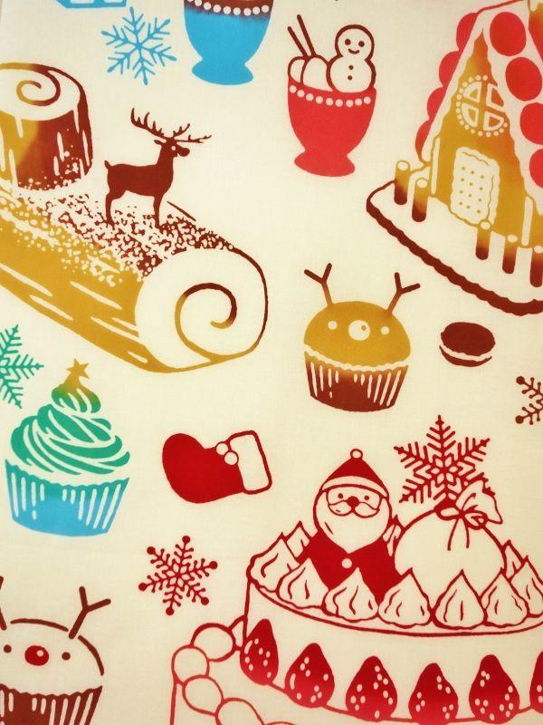 画像1: 手ぬぐい クリスマススイーツ (1)