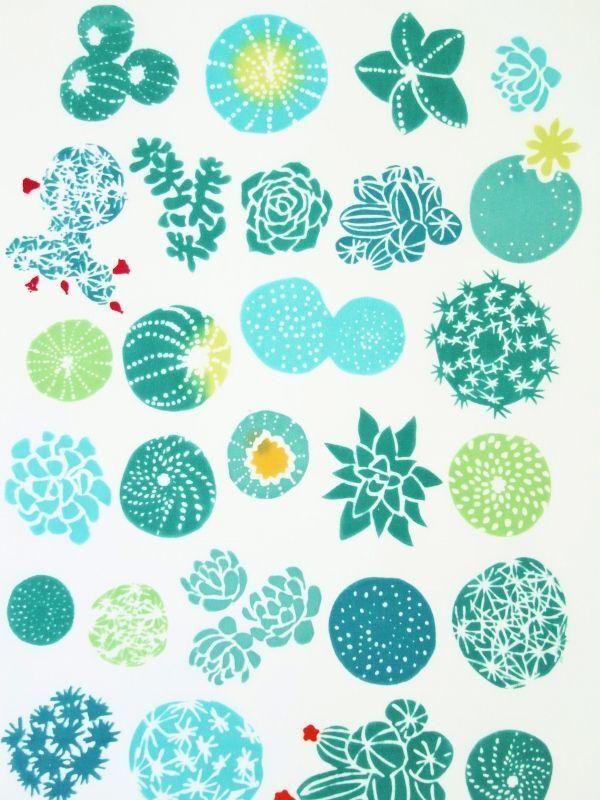 画像1: 手ぬぐい plant flowers (1)