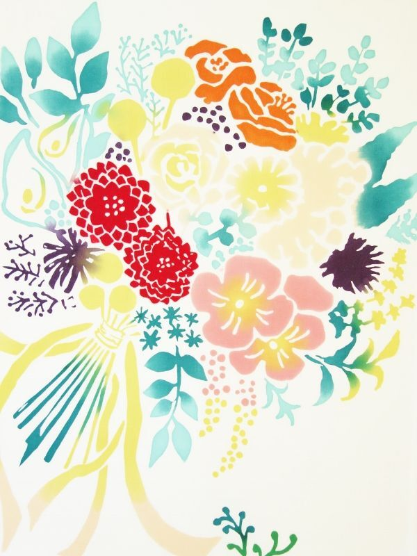 画像1: 手ぬぐい bouquet (1)