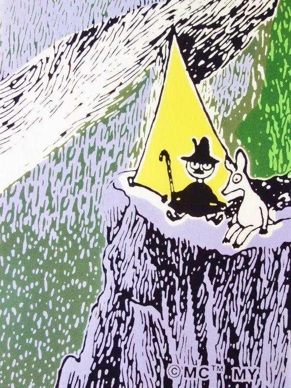 画像1: ムーミン手ぬぐい OUTDOORS テント イエロー (1)