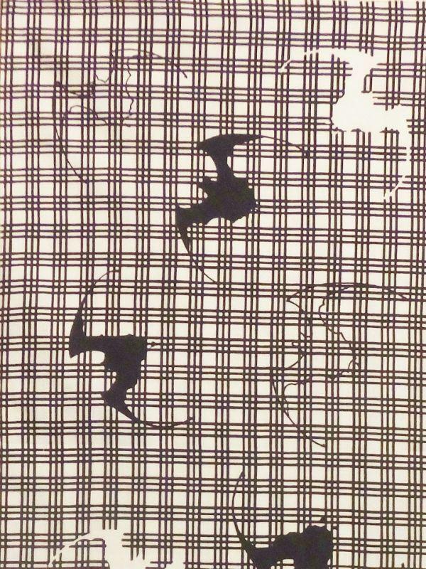 画像1: 手ぬぐい 三筋に蝙蝠 (1)